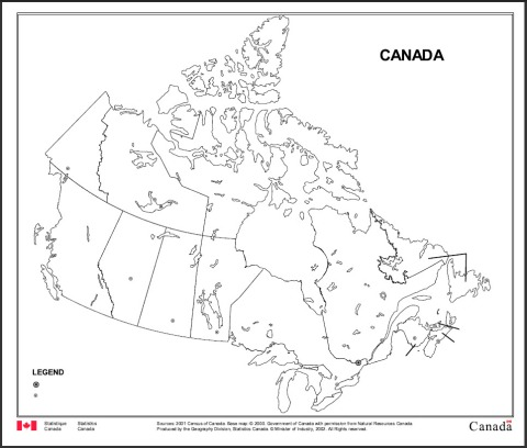 Blank Map of Canada